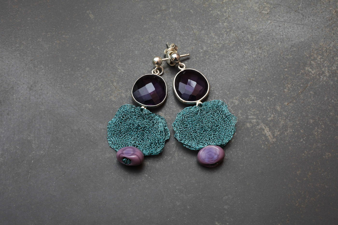 gifts nepal to send earring s earrings silver amethyst jewelry stone earning